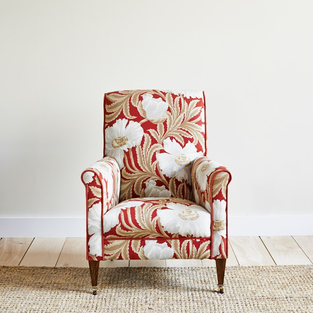 Slaindale arm chair in floral print upholstery
