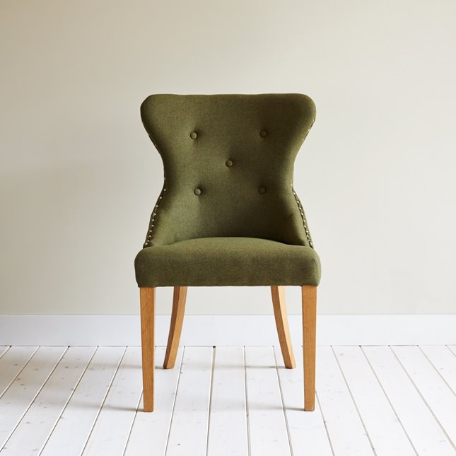 Deep backed Brasserie dining chair with deep button detailing