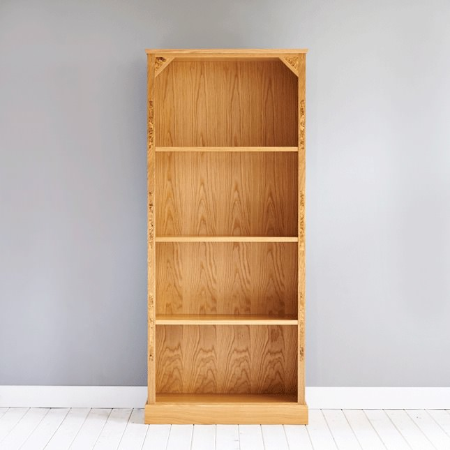 Hand crafted Burr Oak bookcase
