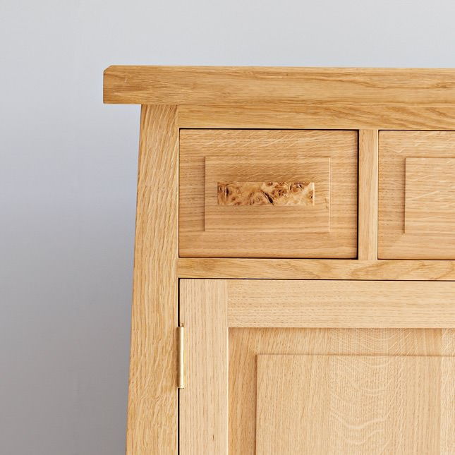 Burr oak handles on the Dalesbred Crummack Dale Dresser