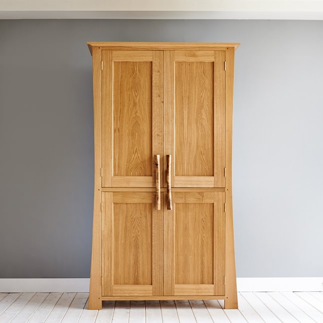 Front view of Dalesbred Curved Larder Cupboard