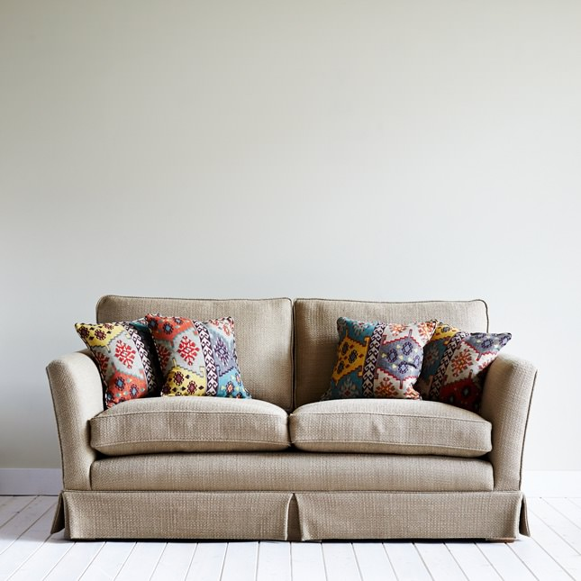 Cushions scattered on Birkrigg sofa