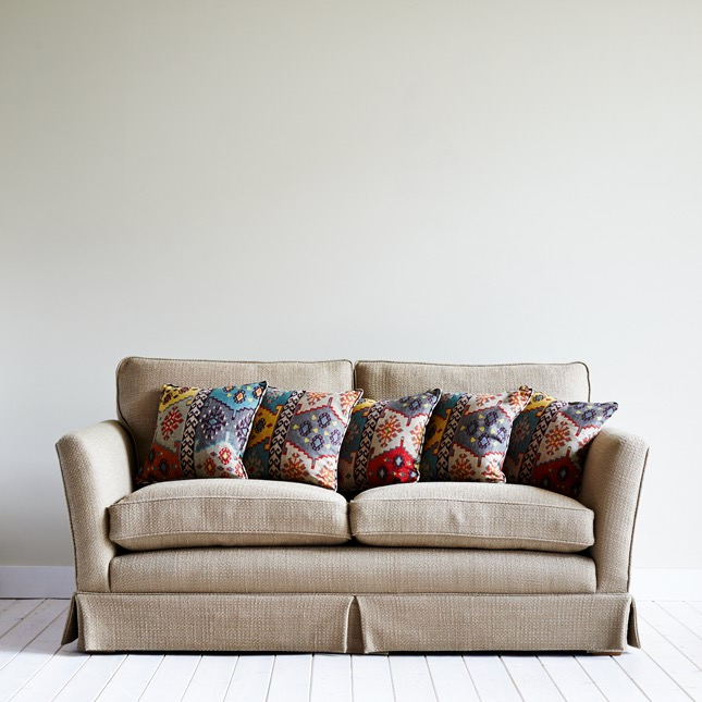 Floral cushions on Birkrigg sofa