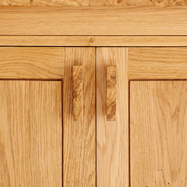 Close up of the handles on the Garsdale Dresser