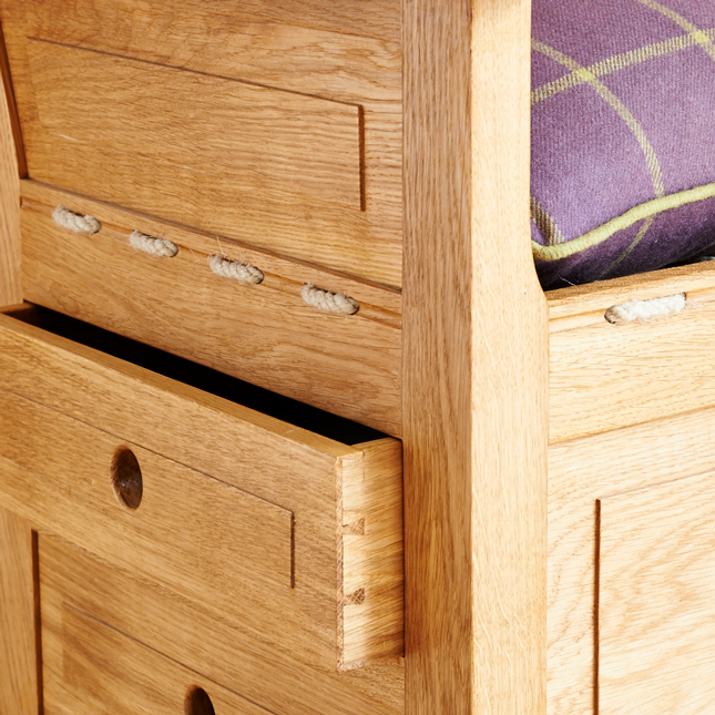 detail of the Lambing Chair drawers