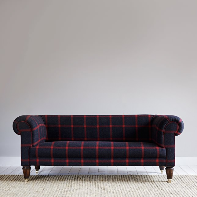 Front view of low back Laraber sofa