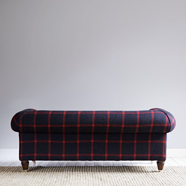 Rear view of solid beech Laraber sofa