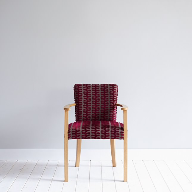 Elegantly upholstered Rathmell Carver dining chair