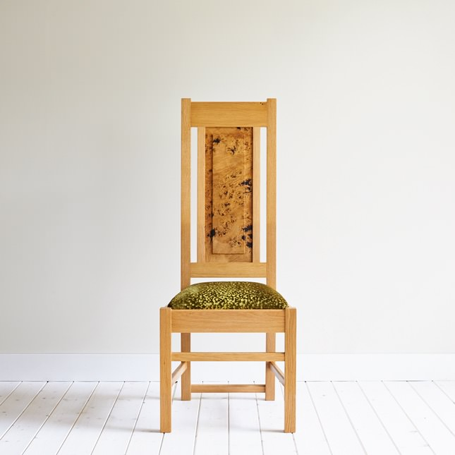 Tall Backed Oak Smithy Dining Chair