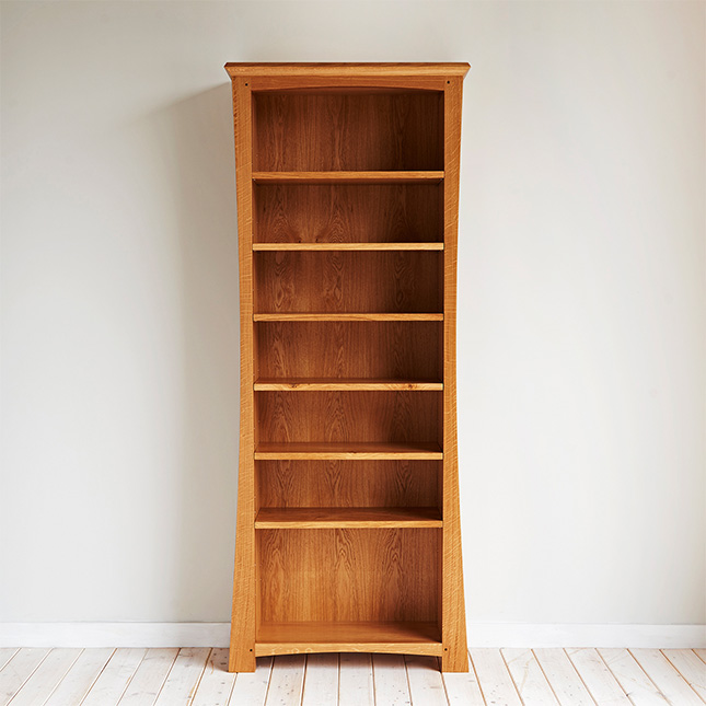 Hand Crafted Dalesbred Curved Bookcase